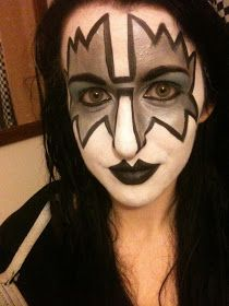 Kiss Ace Frehley The Spaceman Face Paint Using Snazaroo Paints