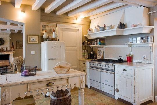 Une Cuisine à Lancienne Style En Décoration Campagne - Decoration cuisine campagne pour idees de deco de cuisine