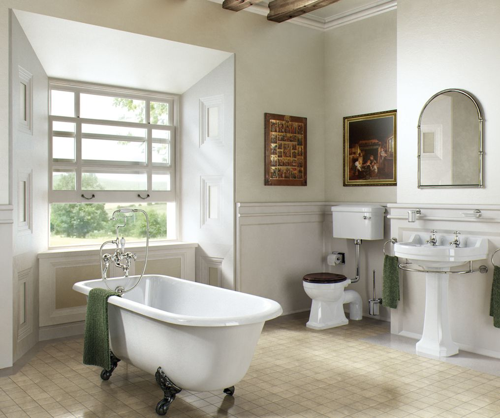 Bathroom designs with clawfoot tubs - Bathrooms Meet Pop Culture Downton Abbey And Edwardian Style Only On Bathroom Bliss By Rotator