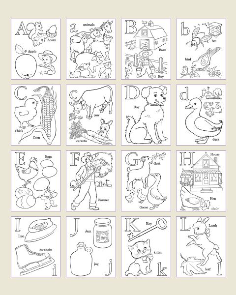 Alphabet Coloring Pages.. Sheets and Pictures | ABC\'s and 123\'s ...