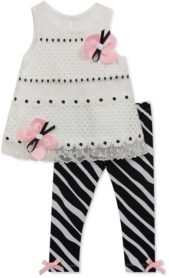 GIRLS 2 PIECE OUTFIT WITH ZEBRA PATTERN