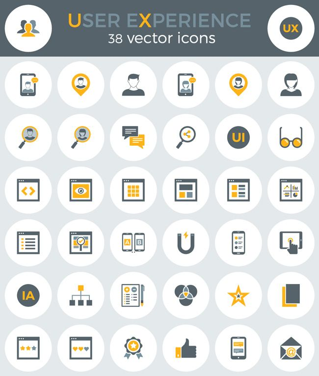 38 Free User Experince Icons Eps Ai Png Svg Free Icon Set Free Icons Icon