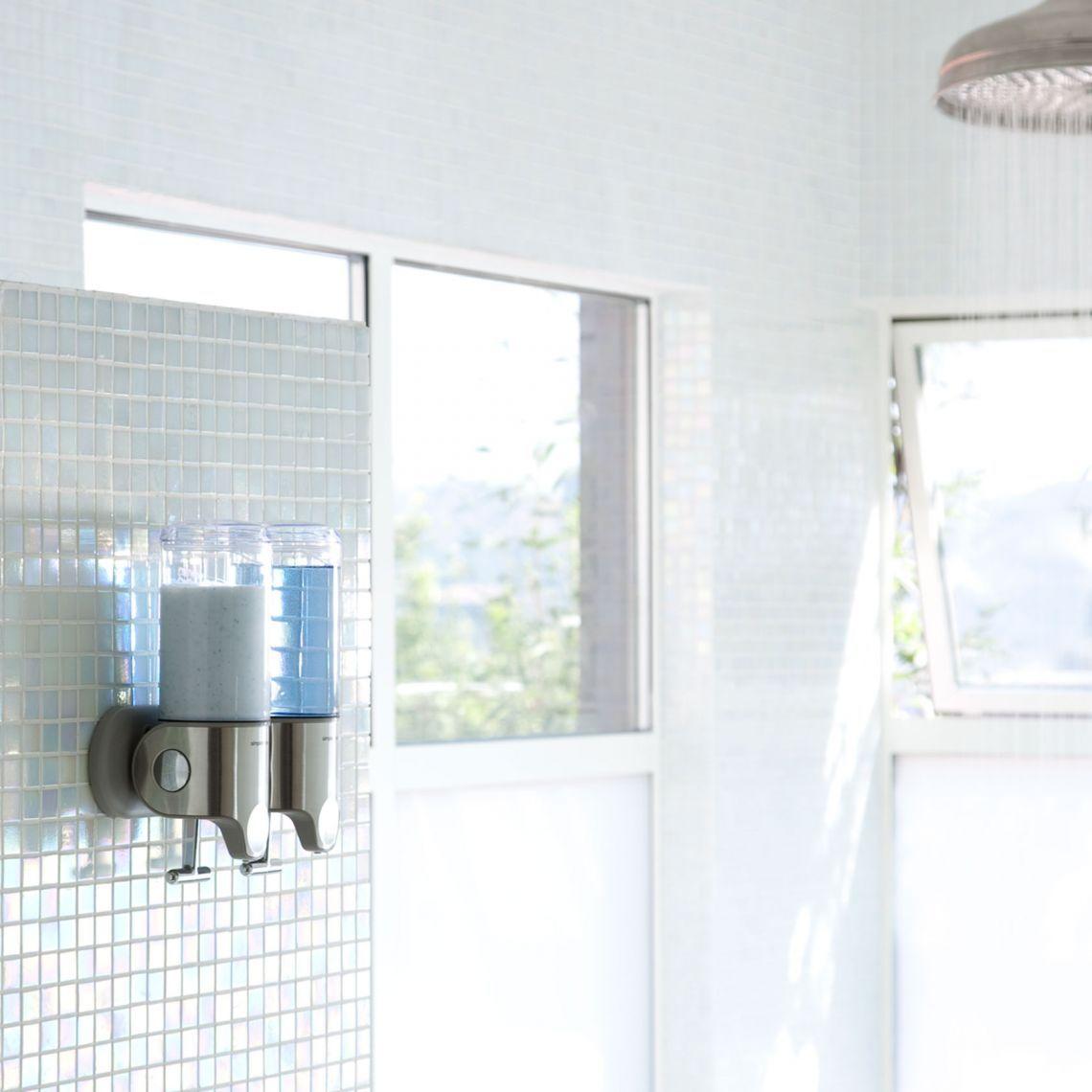 Wall Mount Pump Stainless Steel Simplehuman Sleek Bathroom