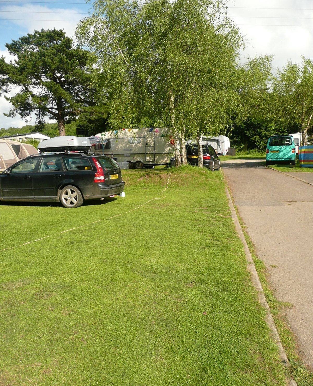 On Site Space On Pitch At Andrewshayes Camping And Caravan