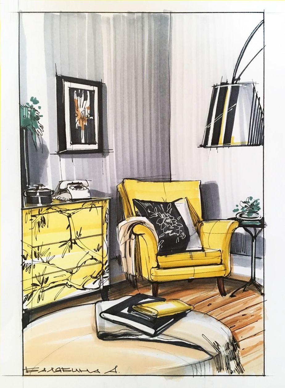 Ознакомьтесь с моим проектом @Behance: «Interior design ...