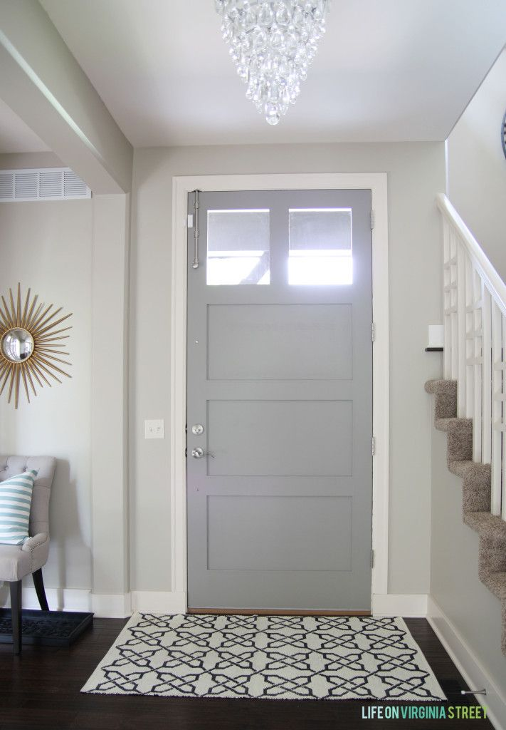 Gray Interior Paint gray painted doors | behr, paths and castles