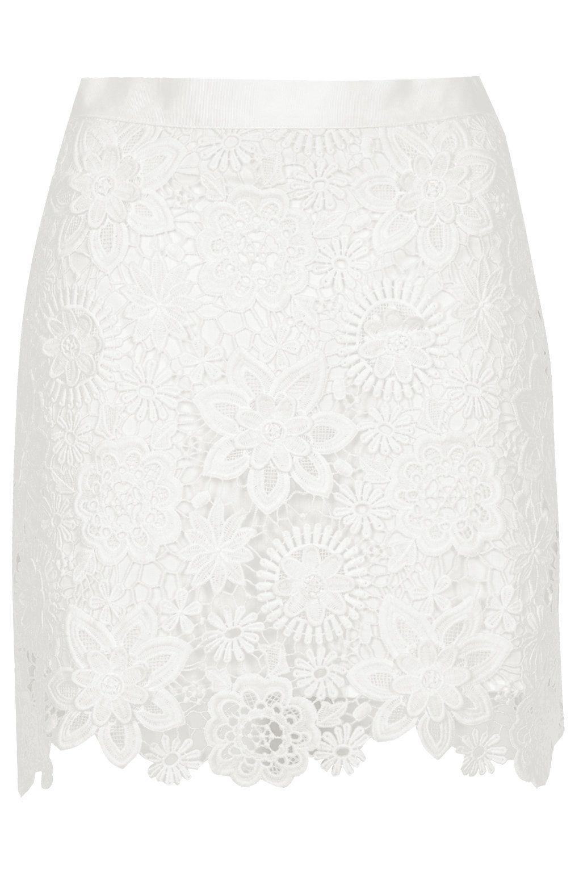838ec011b36e Topshop: 3D Lace mini Skirt White Lace Skirt, Lace Mini Skirts, Cute Skirts