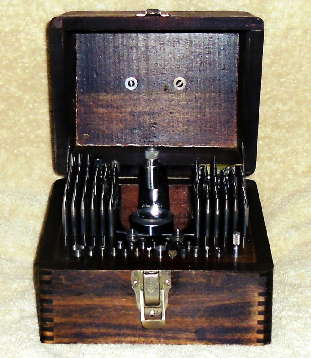 Watchmakers Staking Tool Conversion Chart Punches