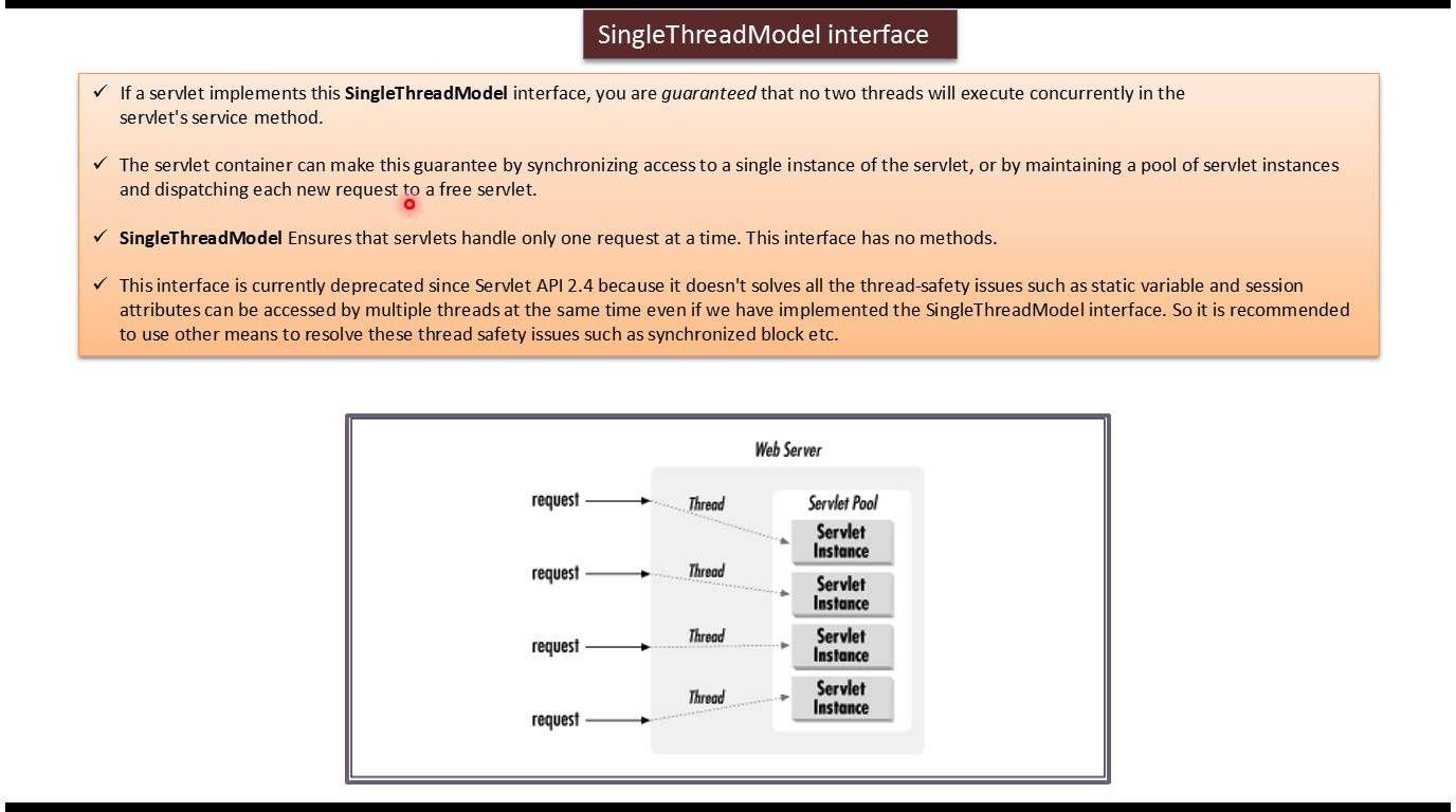 Singlethreadmodel in servlet in java