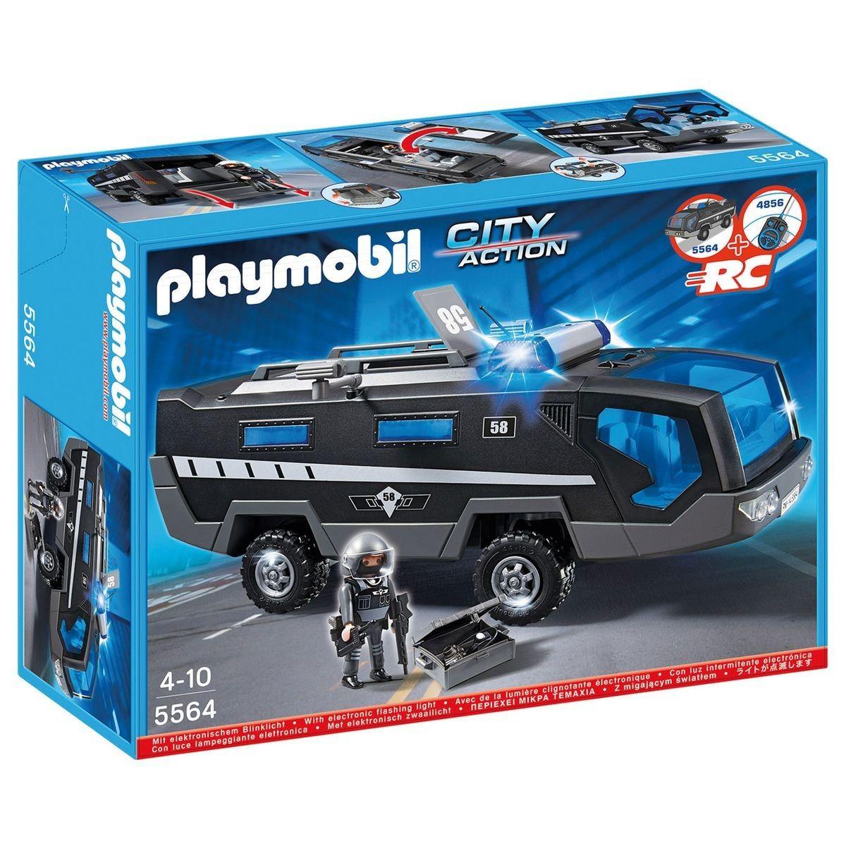 Playmobil Forces Action Spéciales City Véhicule D'intervention Des Y76bfgy