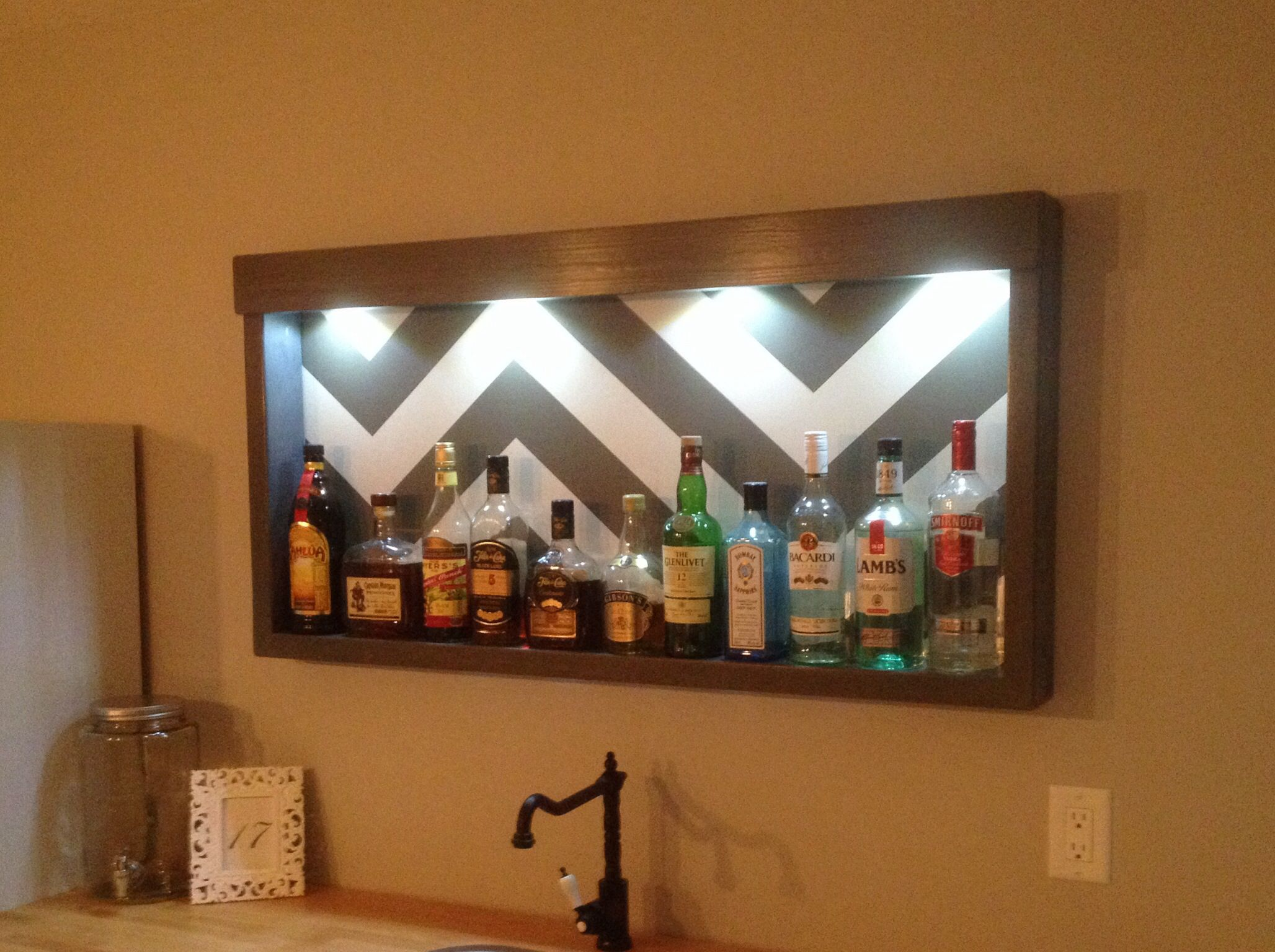 inexpensive liquor cabinet shelf 2x4u0027s glued and screwed stained and lacquered with 1x4