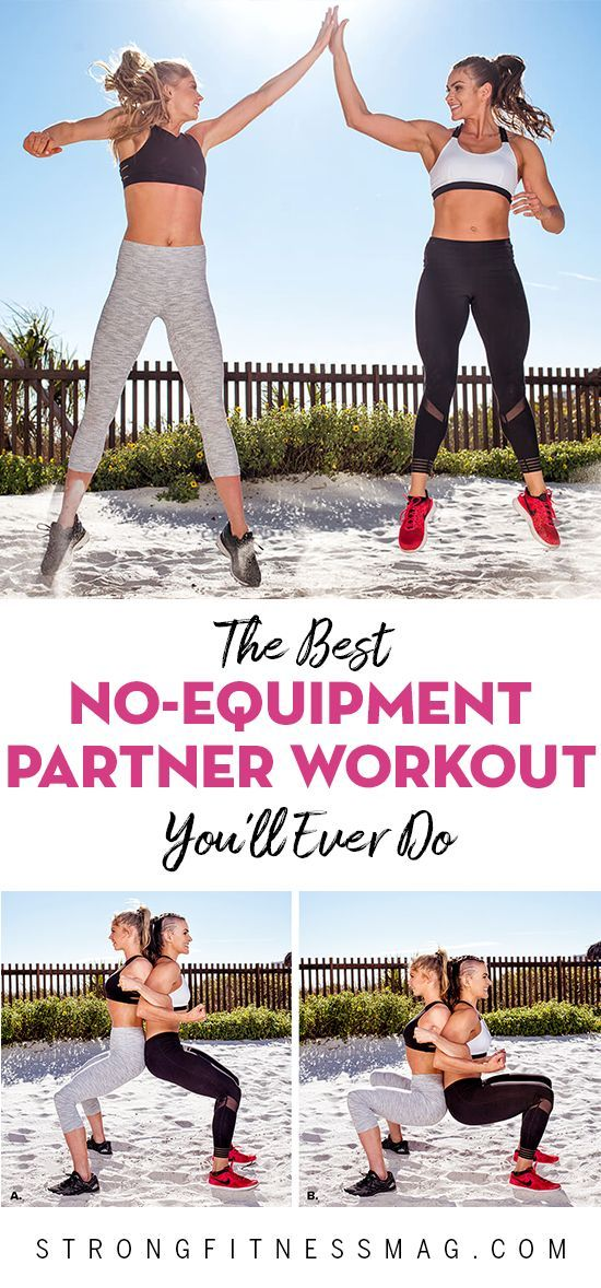 The Best No-Equipment Partner Workout You'll Ever Do