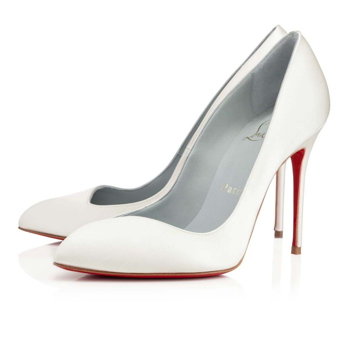 White Pump Satin Pumps Louboutin Corneille Off 100 Mm High Heels Clic Collection