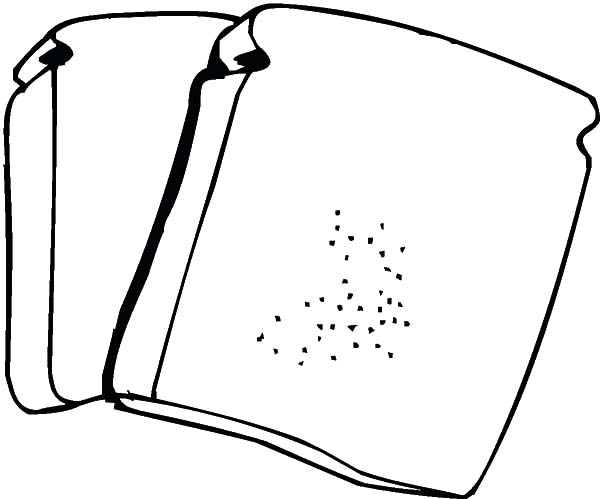 Two Slice Of Bread Coloring Pages Best Place To Color Coloring Pages Color Slice Of Bread