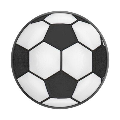 Whether you call it soccer, football or futbol, this sporty phone grip is the perfect way to show your passion for the game. Gooooal! Embossed black and white soccer ball inlay | PopSockets Soccer Ball Phone Grip