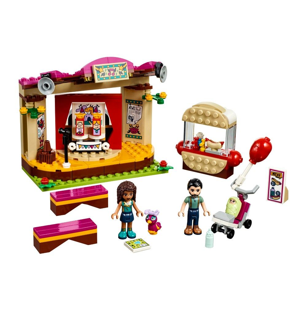 This Lego Friends Andrea's Park Performance toy for girls