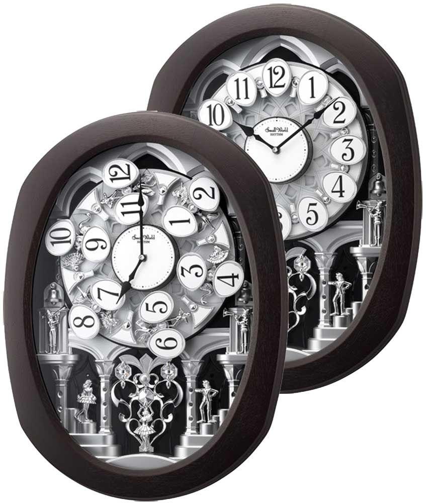 Encore Espresso Musical Motion Clock By Rhythm Clocks Rhythm