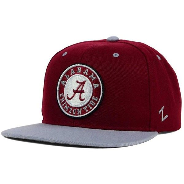 Zephyr Alabama Crimson Tide Z11 Snapback Cap ($28) ❤ liked on Polyvore featuring mens, men's accessories and men's hats