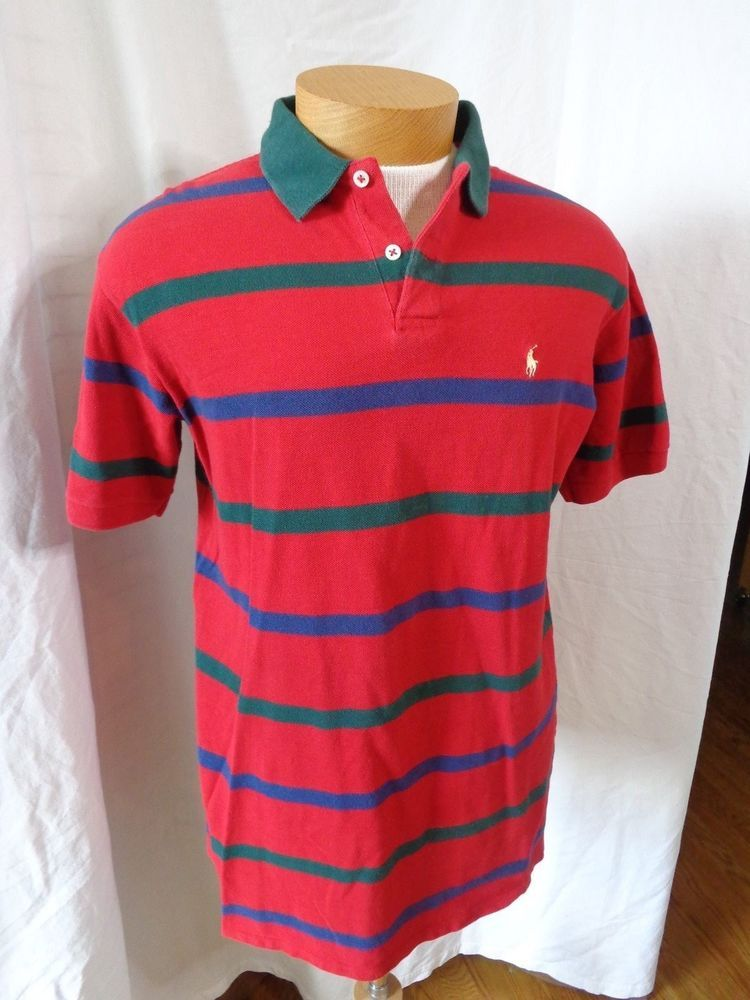 3a97f28d9b Vintage Polo Ralph Lauren Made In USA Striped Polo Shirt Men's Large NICE  !!! | Clothing, Shoes & Accessories, Men's Clothing, Casual Shirts | eBay!