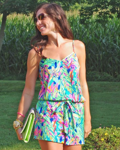 0edcb999a1c1 Lilly Pulitzer Deanna Tank Top Romper in Hot Spot