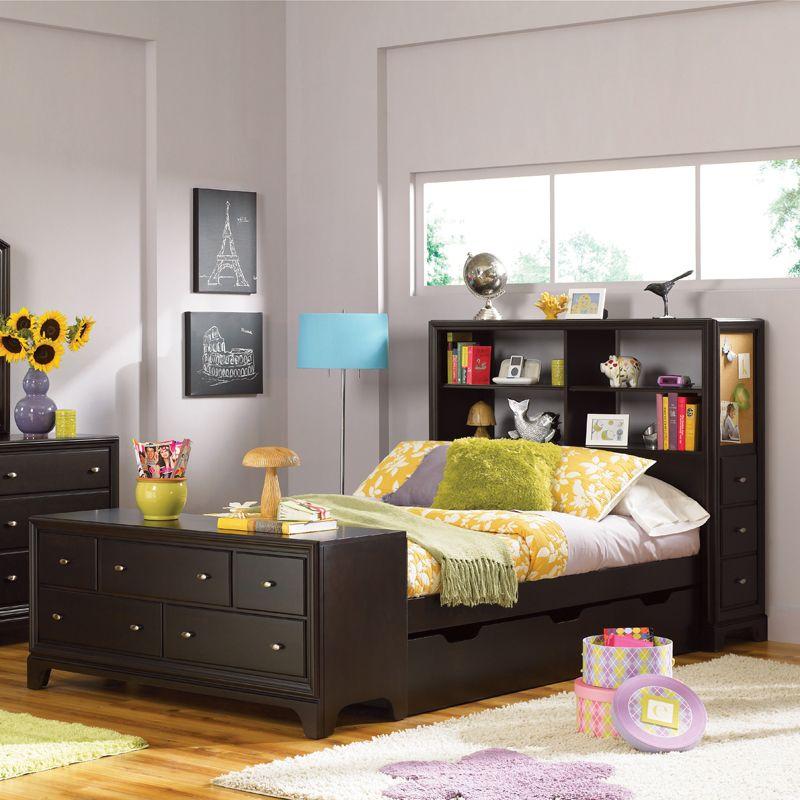 Full Bed Frame With Headboard | Lea Furniture Midtown Storage Headboard  Full Bed With Footboard .