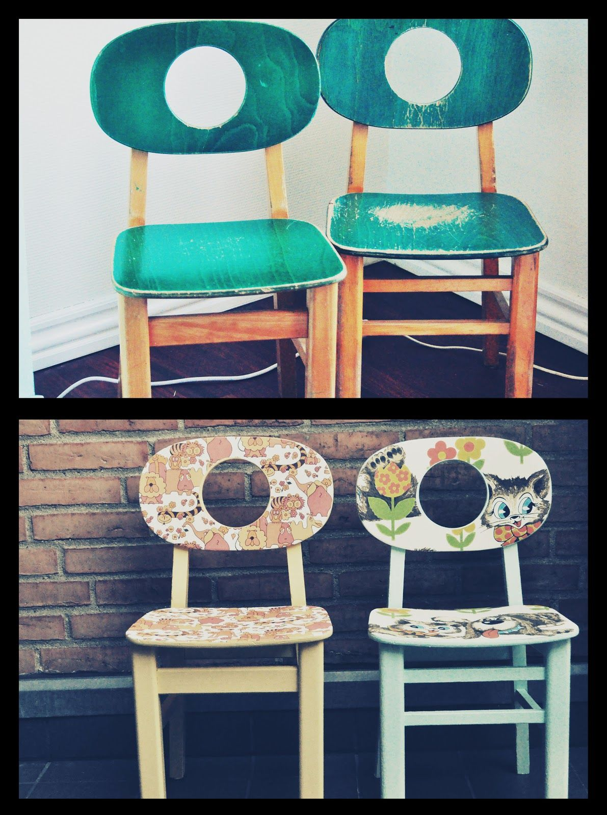 Cute Hukit chairs redo