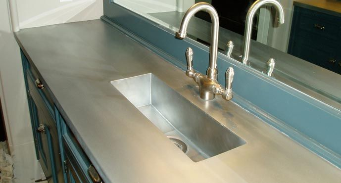 Zinc Bathroom Sinks bathroom zinc countertop with integral sink | for the home