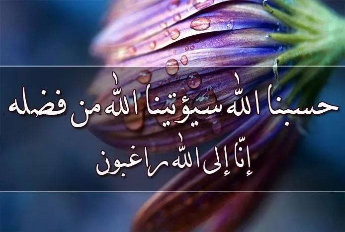 Desertrose حسبنا الله سيؤتينا الله من فضله إنا إلى الله راغبون Islamic Pictures Life Quotes Islam Quran