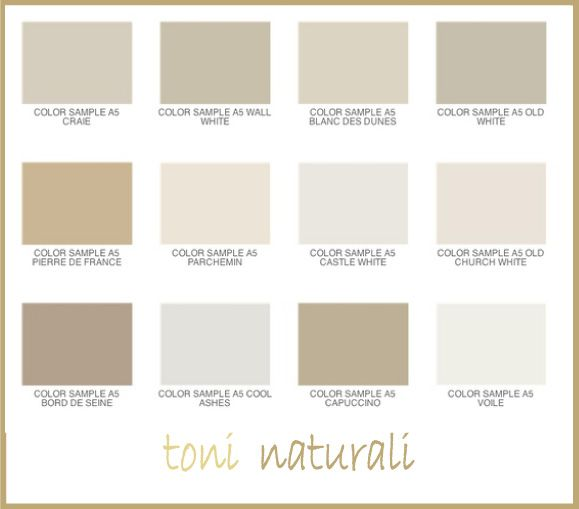 Le tonalità naturali, dallavorio al beige al color ...