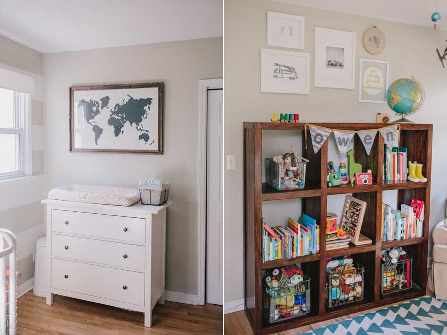Our Little Baby Boy S Neutral Room: Ikea Hemnes Dresser, Baby Boy Neutral Nursery, Globe
