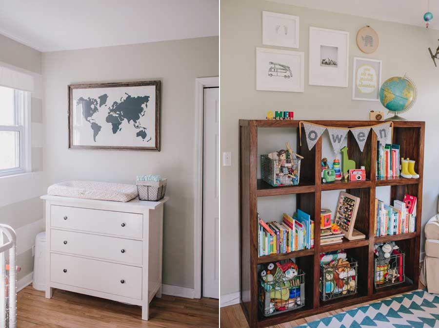 Ikea Hemnes Dresser, Baby Boy Neutral Nursery, Globe