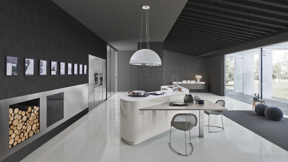 Dune Pedini Usa Kitchen Design Curved Kitchen Island Contemporary Kitchen Design
