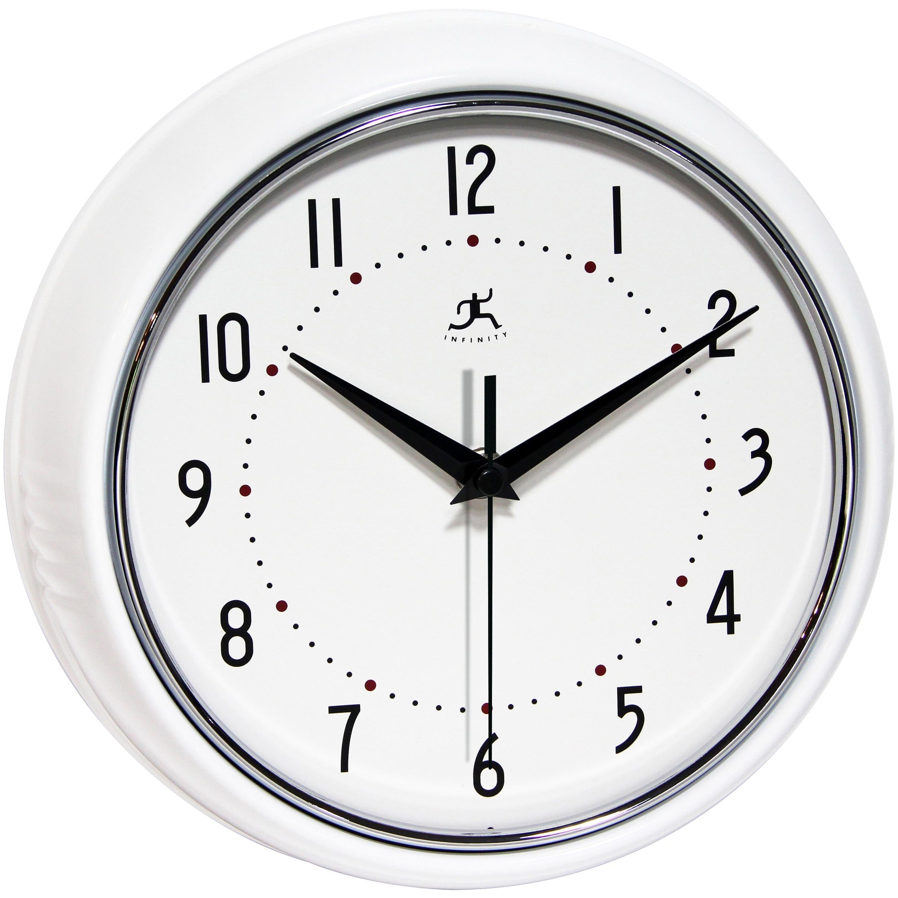 Infinity Instruments Retro 9.5-inch Round Wall Clock