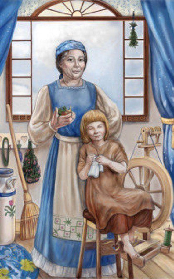 Frau Holle Prayer Card
