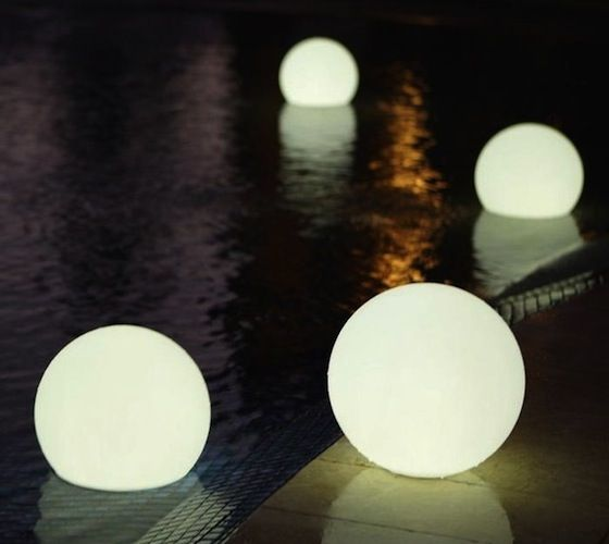 Waterproof outdoor lights floating delicately on the surface of waterproof outdoor lights floating delicately on the surface of your pool or elegantly situated on aloadofball Image collections