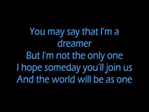 John Lennon Imagine Lyrics On Screen One Of My Favorites Imagine Lyrics Imagine John Lennon Songs To Sing