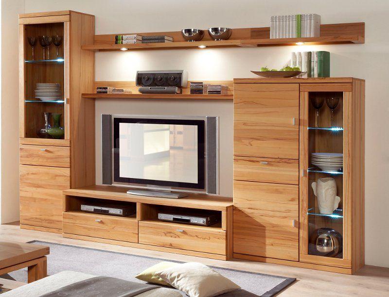 Wohnzimmer Buche ~ Wohnwand aus buche ideen design