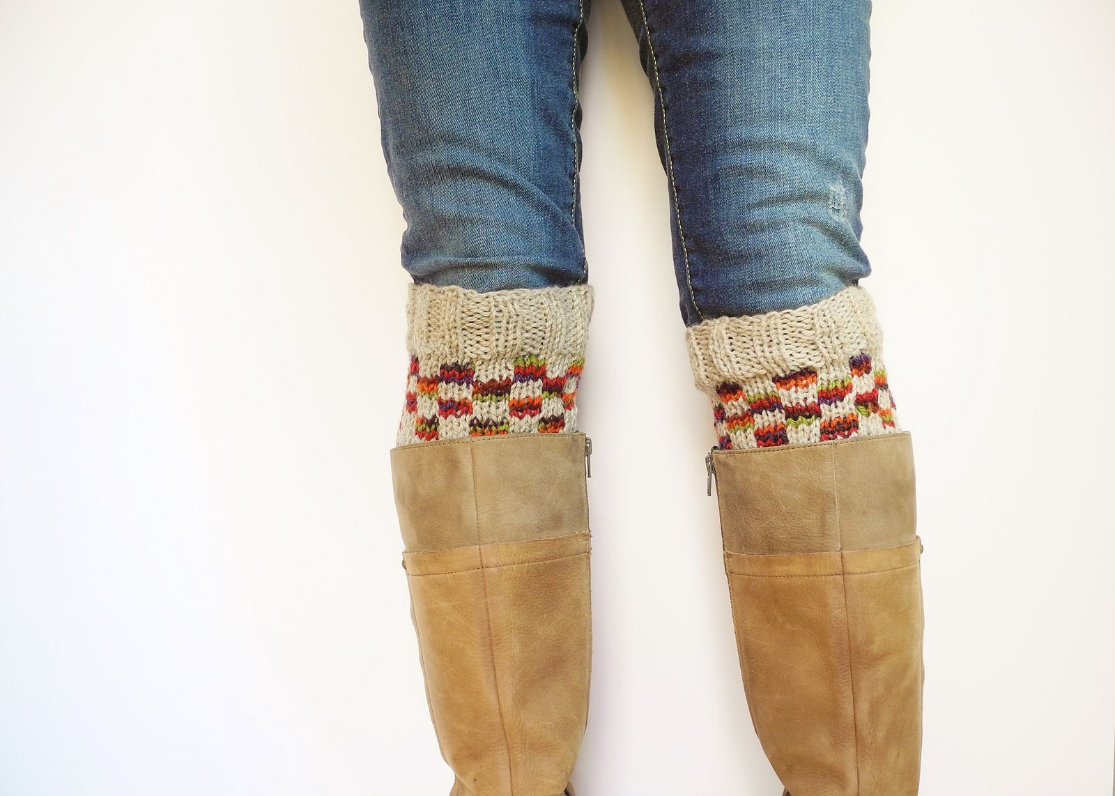 Ravelry: Checkerboard Boot Cuffs pattern by Elizabeth Rogers   love ...