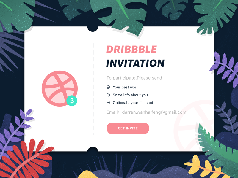 Dribbble invites Invitations, Dribbble, You better work