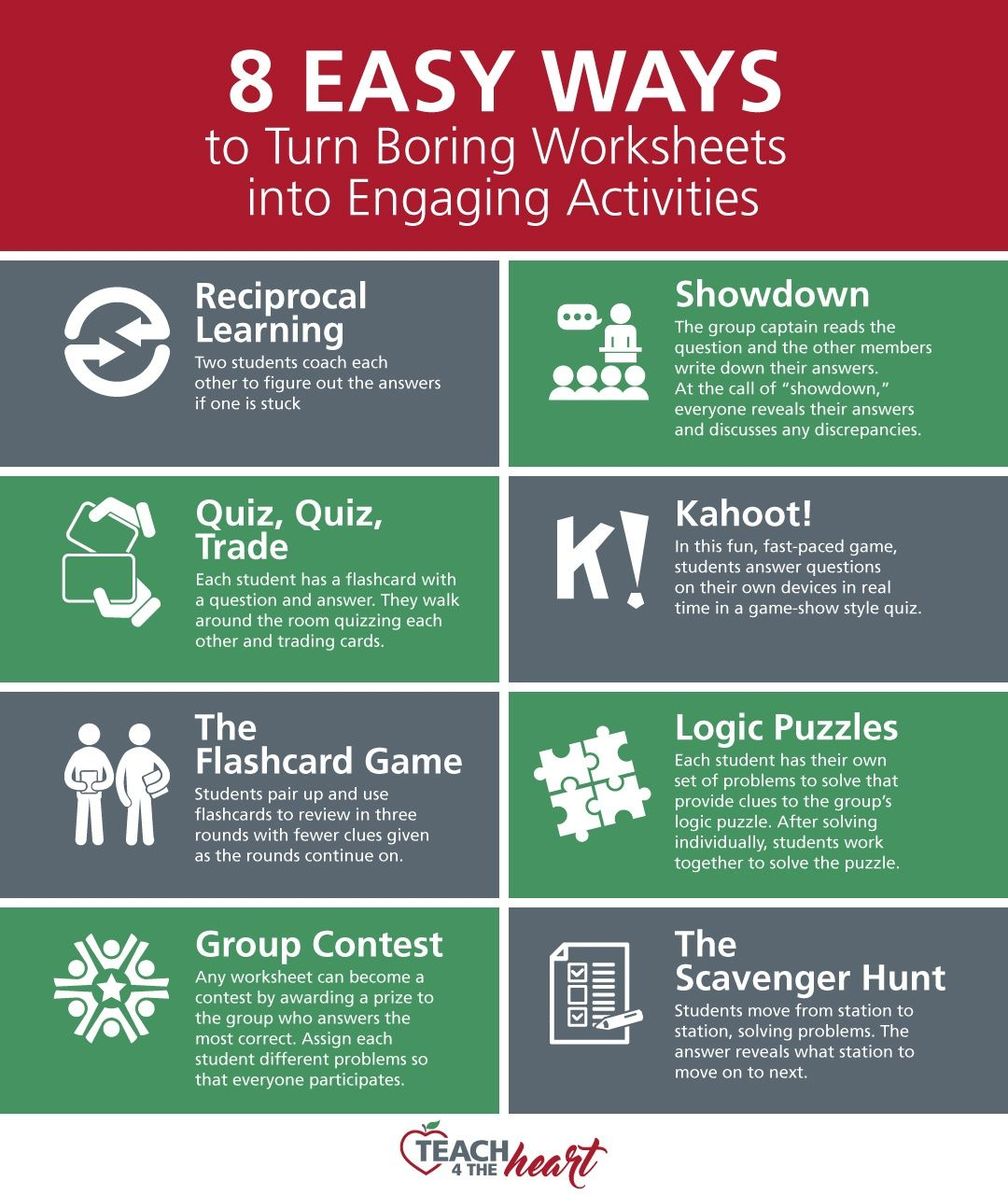7 Easy Ways To Turn Boring Worksheets Into Engaging Activities In