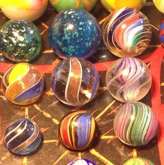 German Made 100 Years Ago Glass Paperweights Glass Marbles Paperweights
