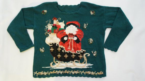 90s Christmas Sweaters.90s Ugly Christmas Sweater By Sycamorevintage On Etsy