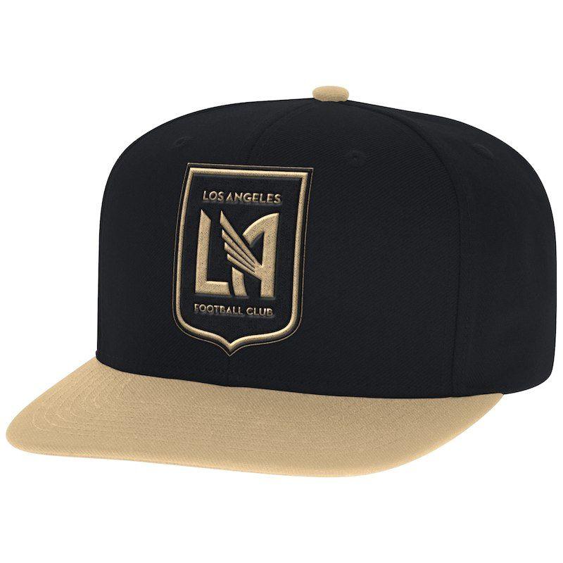 2830c487370368 LAFC Mitchell & Ness Two-Tone XL Logo Snapback Adjustable Hat - Black/Gold