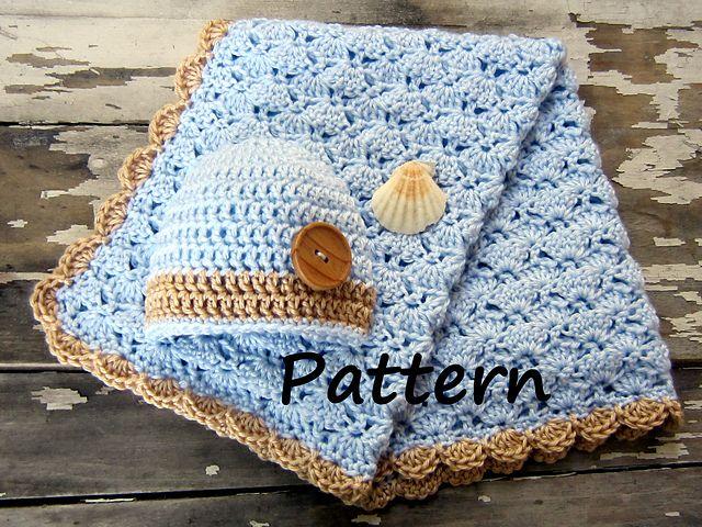 Ravelry Baby Boy Blanket And Hat Pattern Pattern By Seashore Kidz