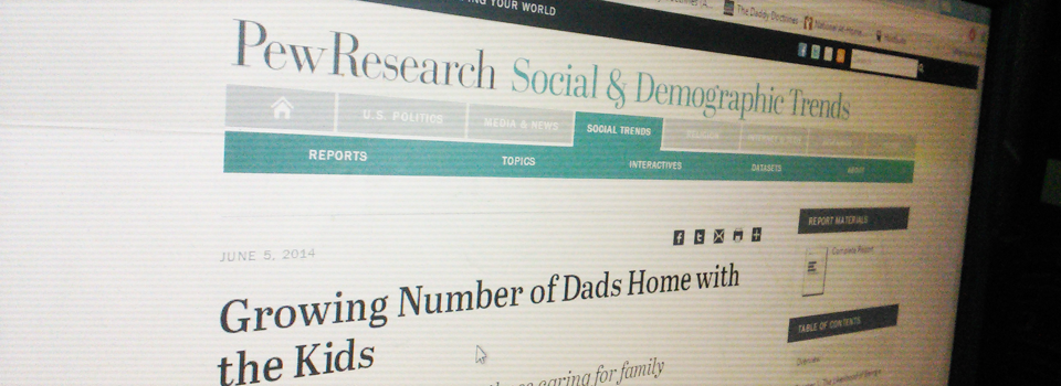 A Response to the Pew Research Center report on Stay-at-Home Dads- Research on stay at home dads SAHD #AHDNetwork #SAHD #DadsCare #Research  #Awesomesauce www.athomedad.org/