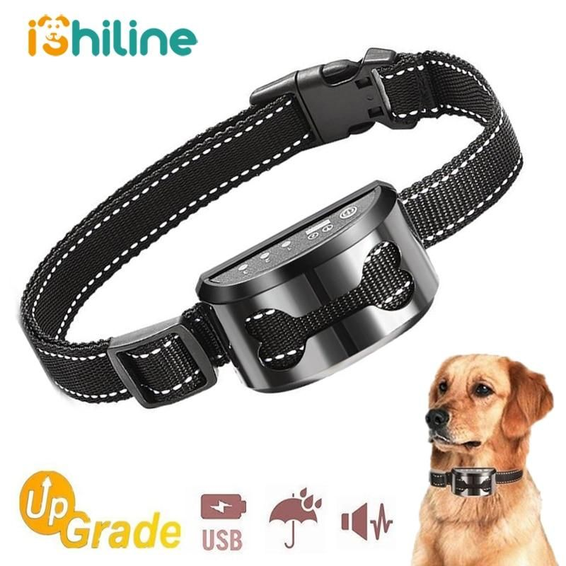 Pet Dog Rechargeable Anti Bark Collar Control Train Waterproof