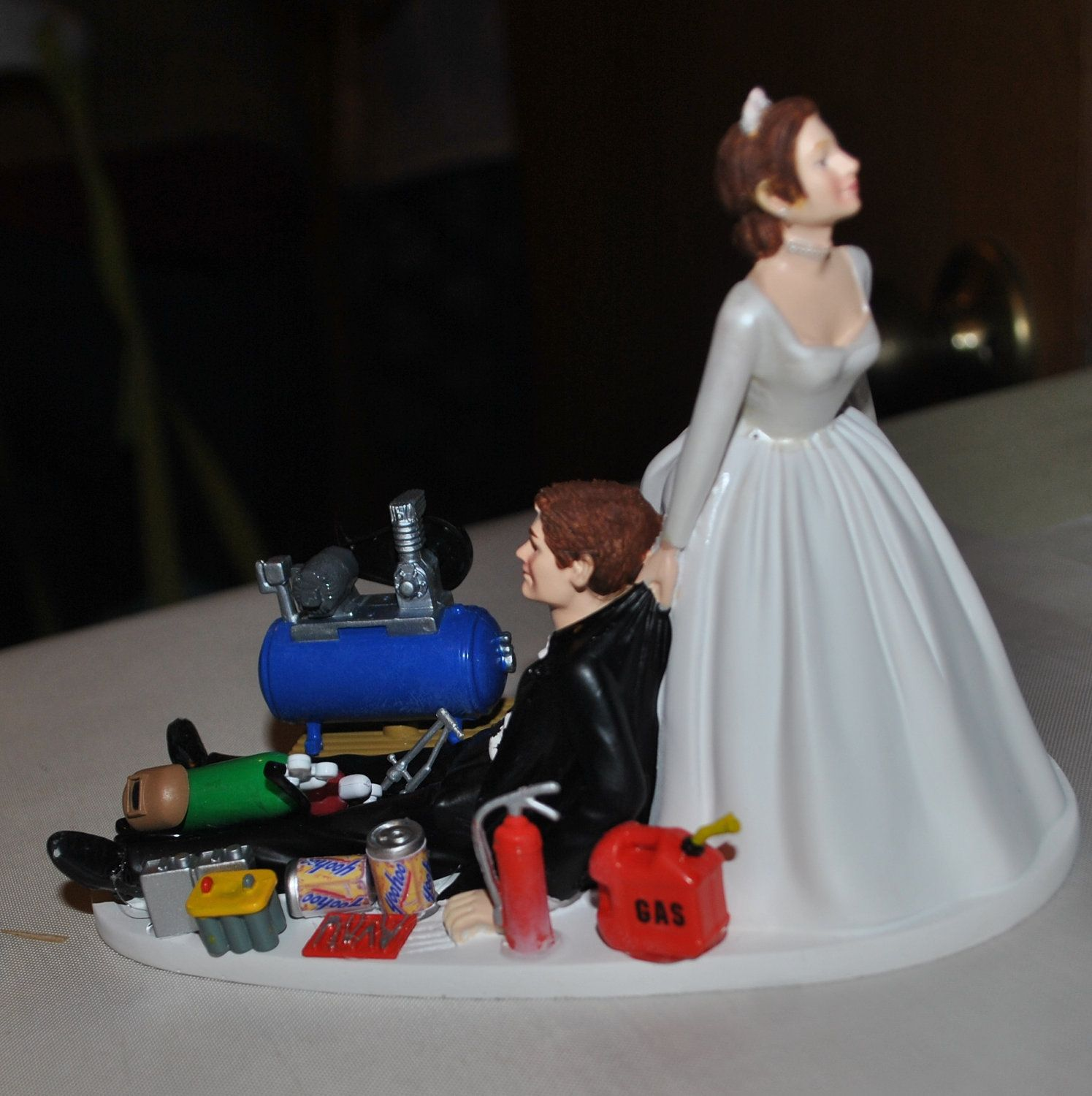 auto mechanic wedding cake topper mac tools by customimageboutique