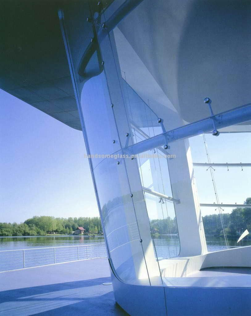 Arc Tempered Glass #Curved Glass. held at high temperature after its production then quickly cooled in order to improve its strength and safety characteristics.