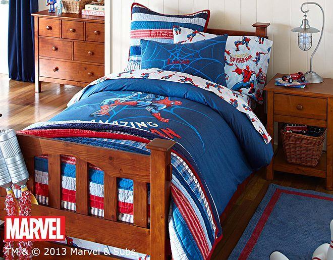 Spider Man Pottery Barn Kids Boy Room Spiderman Bedroom Room