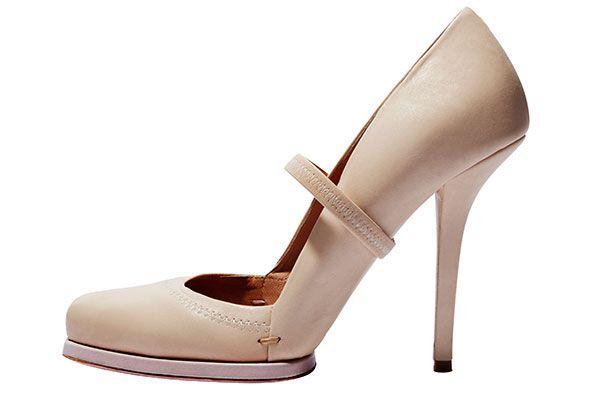 Fabulous at Every Age: Chic Coats:40s: Nina Ricci pump, $825, similar styles available at shopbop.com